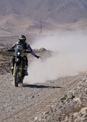 Andrew Short grüsst uns - Wow! / Atacama Rally Chile