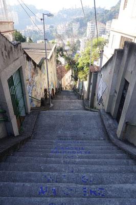 Treppen in unserem Viertel / Rio de Janeiro / Brasilien
