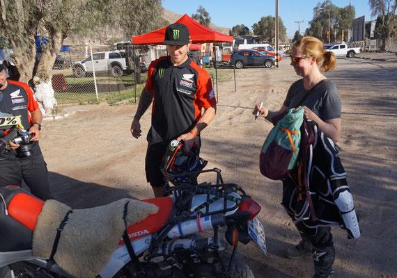 Ricky Brabec geht zu Uta s CRF  /  Atacama Rallyl - Chile