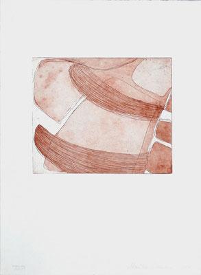 Monika Humm Aquatinta 2 - sepia 1, PG 16,5x20 cm, Bütten 37x28,5cm