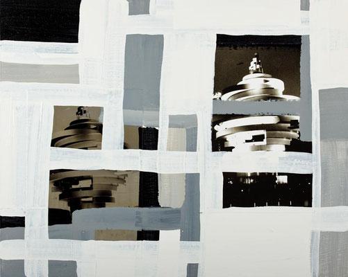 Monika Humm Global 49, 2012, Mischtechnik auf LW-Hartfaser, 80x100x0,5cm