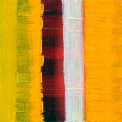 Monika Humm Aran 7, 2005, Ölmalerei auf Leinwand, 50x50x7cm
