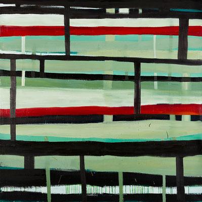 Monika Humm Transition 5, 2011, Oelmalerei auf Leinwand, 200x200x3cm