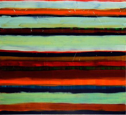 Monika Humm Winter in Spring 2, 2006, Ölmalerei auf Leinwand, 200x220x5cm