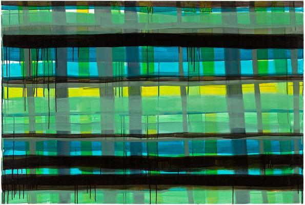 Monika Humm Primavera 6, 2016, Acrylmalerei auf Leinwand, 100x150x2cm