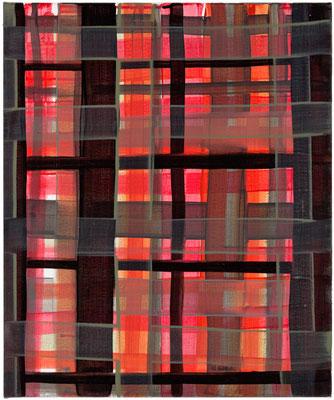 Monika Humm constructed 5, 2016, Acrylmalerei auf Leinwand, 50x60x2cm