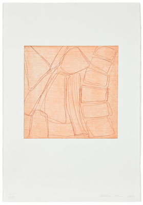Monika Humm Kaltnadelradierung - sepia 1, PG 27x27 cm, Bütten 57x39cm