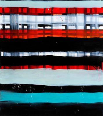Monika Humm Waiting 8, 2007, Ölmalerei auf Leinwand, 180x160x3cm