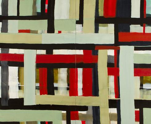 Monika Humm Transition 4, 2011, Acrylmalerei auf Holz, 300x360x5cm
