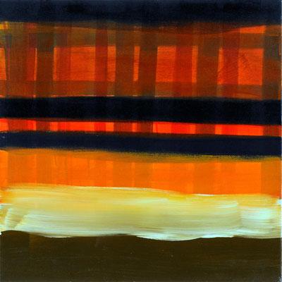 Monika Humm Indian Summer 3, 2006, Ölmalerei auf Leinwand, 60x60x7cm