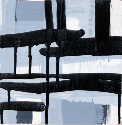 Monika Humm connected 1.1, 2007, Acrylmalerei auf Leinwand, 20x20x2cm