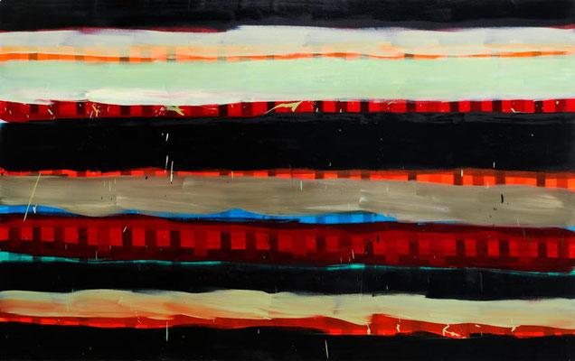 Monika Humm Summer 7, 2006, Ölmalerei auf Leinwand, 150x240x7cm