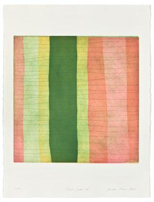 Monika Humm Aran - Green 10, 2005, Aquatinta und Strichätzung, 4 Platten, PG 50x50cm auf Bütten 76x57cm