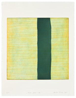 Monika Humm Aran - Green 8, 2005, Aquatinta und Strichätzung, 2 Platten, PG 50x50cm auf Bütten 76x57cm