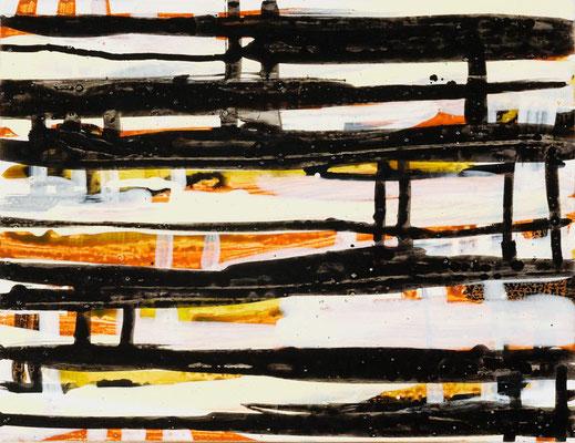 Monika Humm Going on 17, 2008, Acrylmalerei auf Holz, 29x37,5x2,5cm