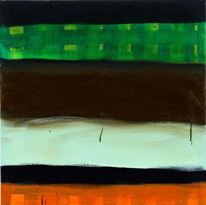 Monika Humm Indian Summer 6, 2006, Ölmalerei auf Leinwand, 60x60x7cm