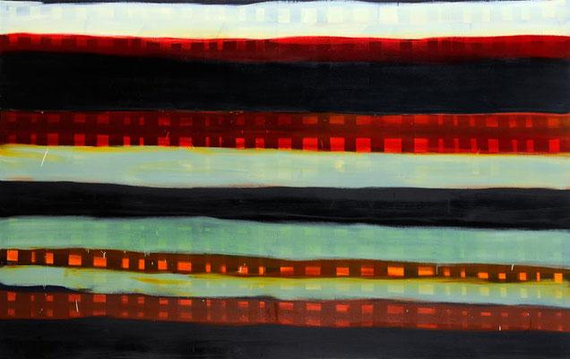 Monika Humm Summer 2, 2006, Ölmalerei auf Leinwand, 150x240x7cm