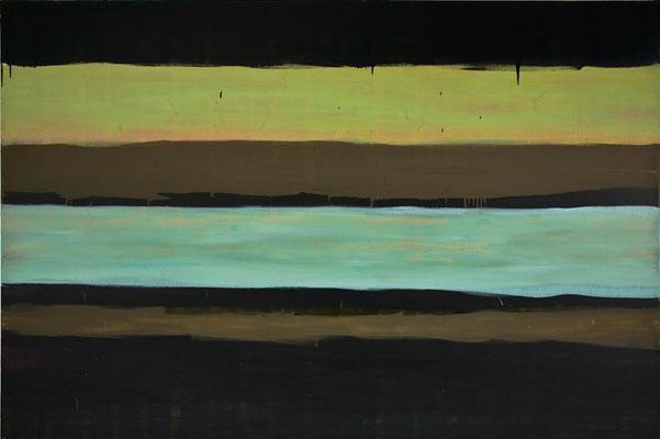 Monika Humm Waiting for Snow 3, 2006, Ölmalerei auf Leinwand, 160x240x5cm