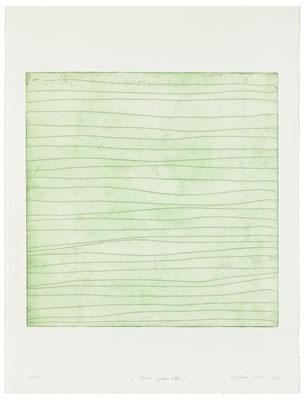 Monika Humm Aran - Green 7, 2005, Strichätzung, PG 50x50cm auf Bütten 76x57cm