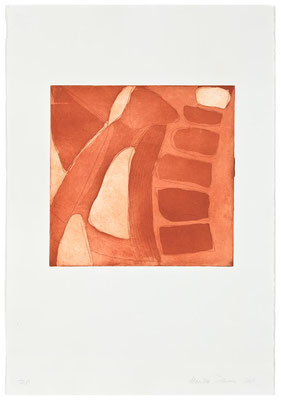 Monika Humm Aquatinta 3 - sepia 1, PG 26,5x27 cm, Bütten 57x39cm