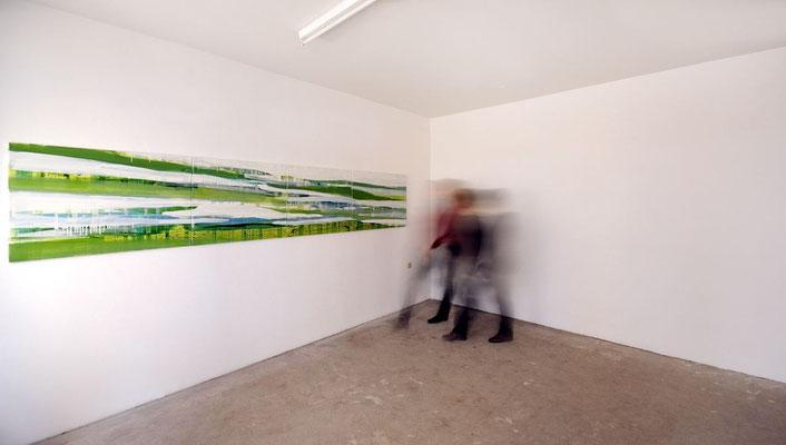 monika humm - Bewegungen im Strom, kunstraum München, 20.11.2008  Foto: Susanne Hesping