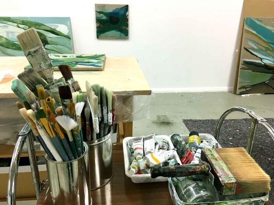 im Atelier von Monika Humm