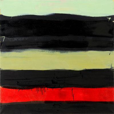 Monika Humm Indian Summer 9, 2006, Ölmalerei auf Leinwand, 100x90x7cm