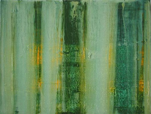 Monika Humm Aran 9, 2004, Ölmalerei auf Leinwand, 30x40x3cm