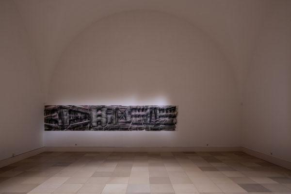Ben Goossens: Eckkonfekt, Sprühlack auf Papier / Supernature, Galerie der Künstler München, 2021 Foto: Edward Beierle