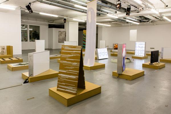 "Ausstellungsansicht ""SAFE PLAY (This New Distance)"", 2020 Foto: Manuel Nieberle"