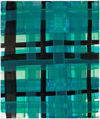 Monika Humm constructed 4, 2016, Acrylmalerei auf Leinwand, 50x60x2cm