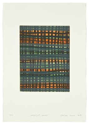 Monika Humm, Waiting 1 - Grid 1, Aquatinta auf Büttenpapier