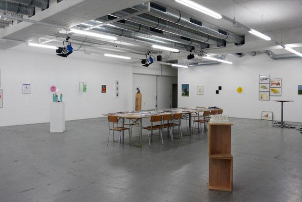 Ausstellungsansicht Jahresgaben 2017 in der Halle der PLATFORM