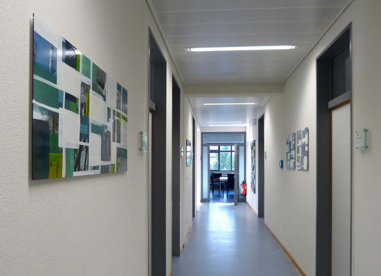 Monika Humm  Installationsansicht: Polizeiinspektion Schongau