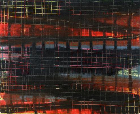 Monika Humm Waiting 26, 2007, Ölmalerei auf Holz, 40x49x2cm