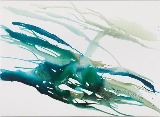 Monika Humm Volcanism-Floating 15, Acrylmalerei auf Leinwand, 135x185x2cm