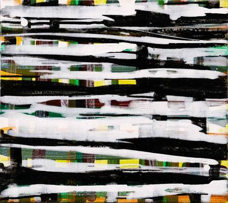 Monika Humm Going on 54, 2009, Acrylmalerei auf Leinwand, 40x45x2cm