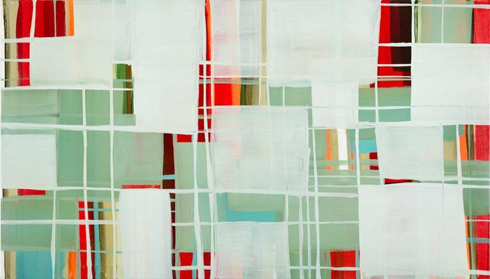 Monika Humm Transition-Hongkong 8, 2012, Acrylmalerei auf Leinwand, 120x210x2cm