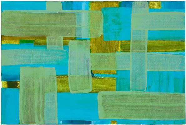 Monika Humm Transition 26, 2015, Acrylmalerei auf Leinwand, 40x60x3cm