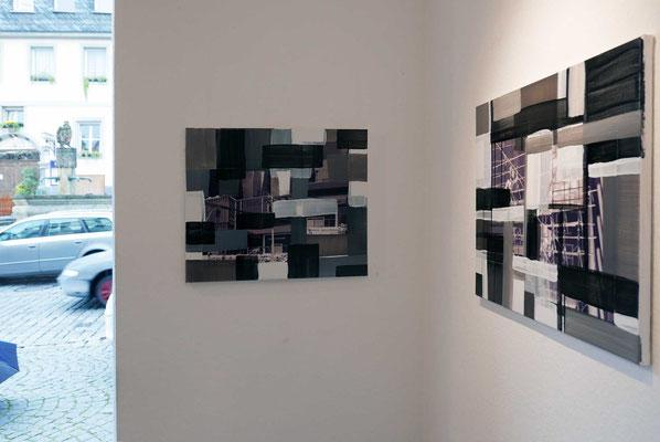 Monika Humm, Arbeiten aus der Serie global - men at work   Foto: Rainer Humm