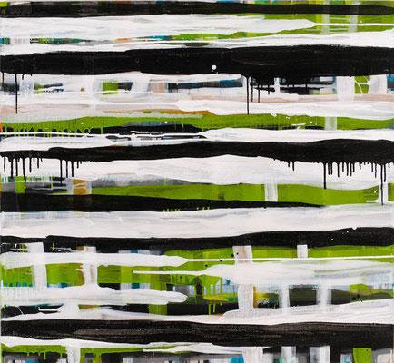 Monika Humm Going on 39, 2009, Acrylmalerei auf Leinwand, 120x130x3cm