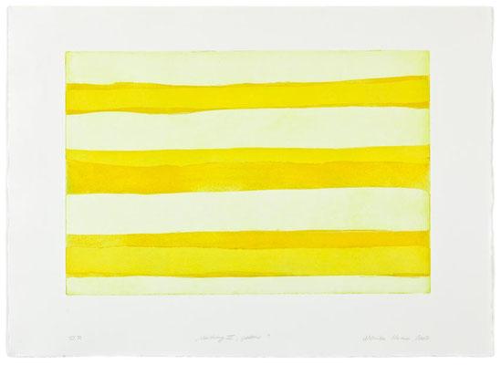 Monika Humm Waiting 4- yellow, 2007, Aquatinta, PG 40x60cm, Buetten 57x78cm