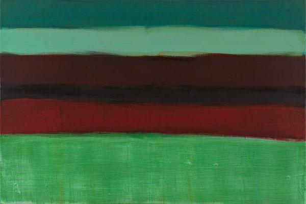 Monika Humm Indian Summer 20, 2015, Ölmalerei auf Leinwand, 60x90x3cm