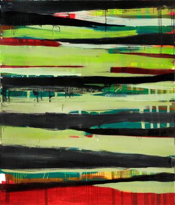 Monika Humm Going on 2, 2007, Ölmalerei auf Leinwand, 230x195x5cm
