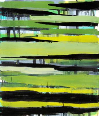 Monika Humm Going on 1, 2007, Ölmalerei auf Leinwand, 230x195x5cm