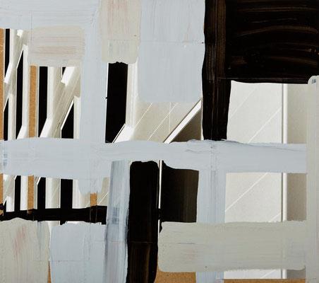 Monika Humm Global 51, 2012, Mischtechnik auf MDF, 47x53x0,5cm