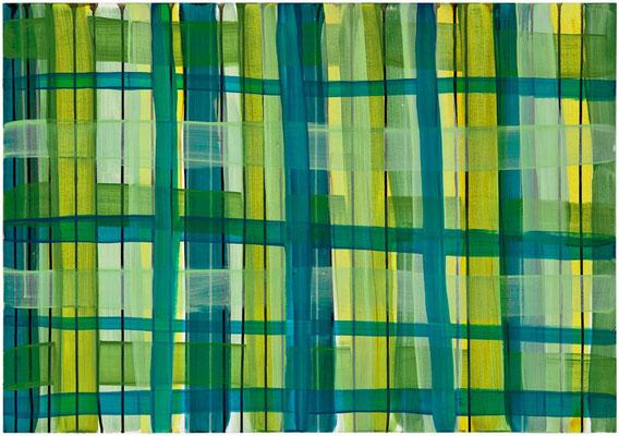Monika Humm Primavera 3, 2016, Acrylmalerei auf Holz, 70x100x3,5cm
