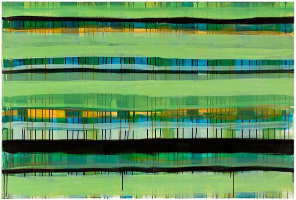 Monika Humm Primavera 5, 2016, Acrylmalerei auf Leinwand, 100x150x2cm