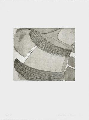 Monika Humm Aquatinta 2 - black 2, PG 16,5x20 cm, Bütten 37x28,5cm
