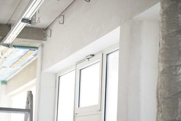verputzte Tür- und Fensterlaibungen